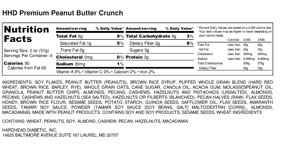Peanut Butter Crunch Label
