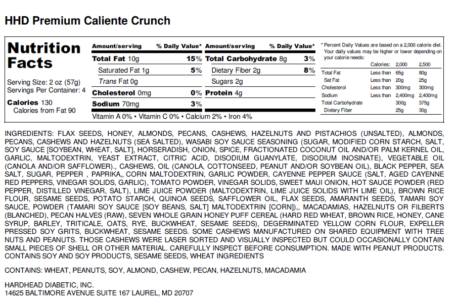 Caliente Crunch Label
